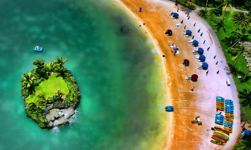 Wakiki beach looking down