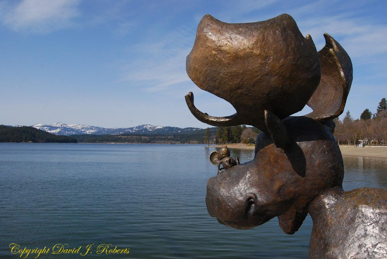 Bronze Moose in Coeur d'Alene, Idaho