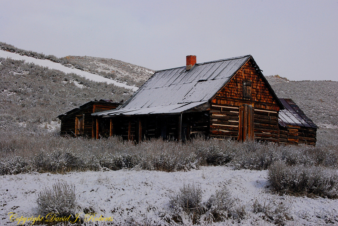 Old house near Fairfield, Idaho
