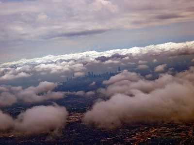 Chicago skyline from a plane