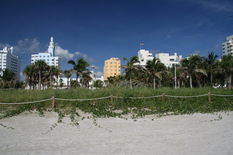 Miami Beach and boardwalk