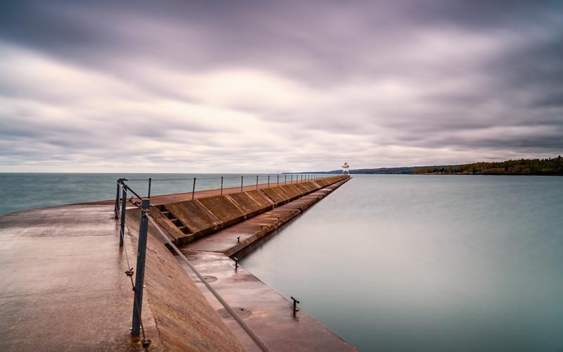 Two Harbors Breakwater Wall