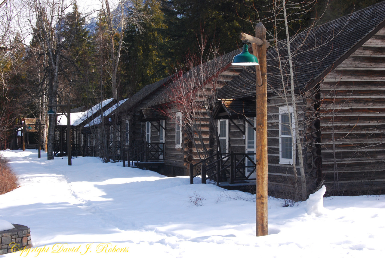 Cabins at Lake McDonald Lodge, Glacier National Park, Montana