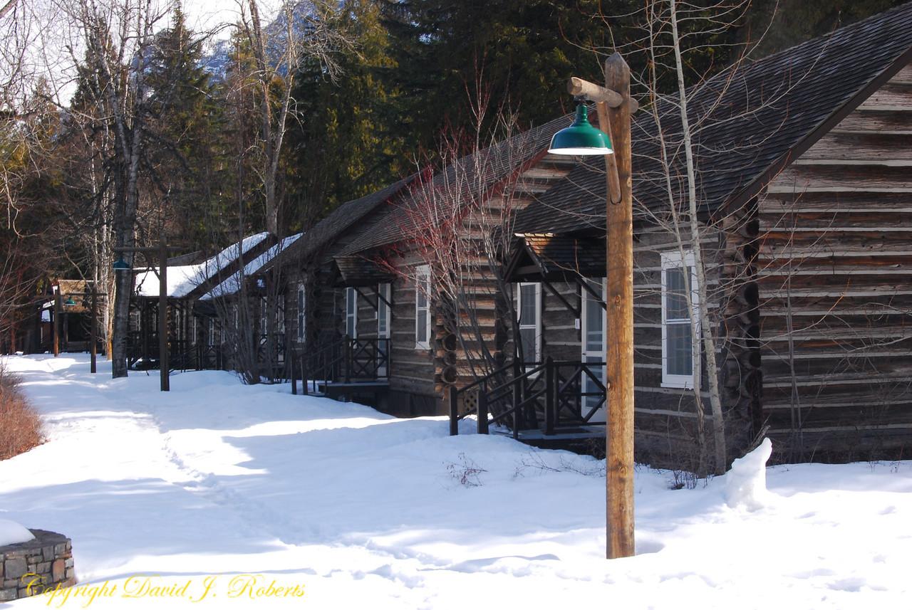 Cabins at Lake McDonald Lodge, Glacier National Park, Montana