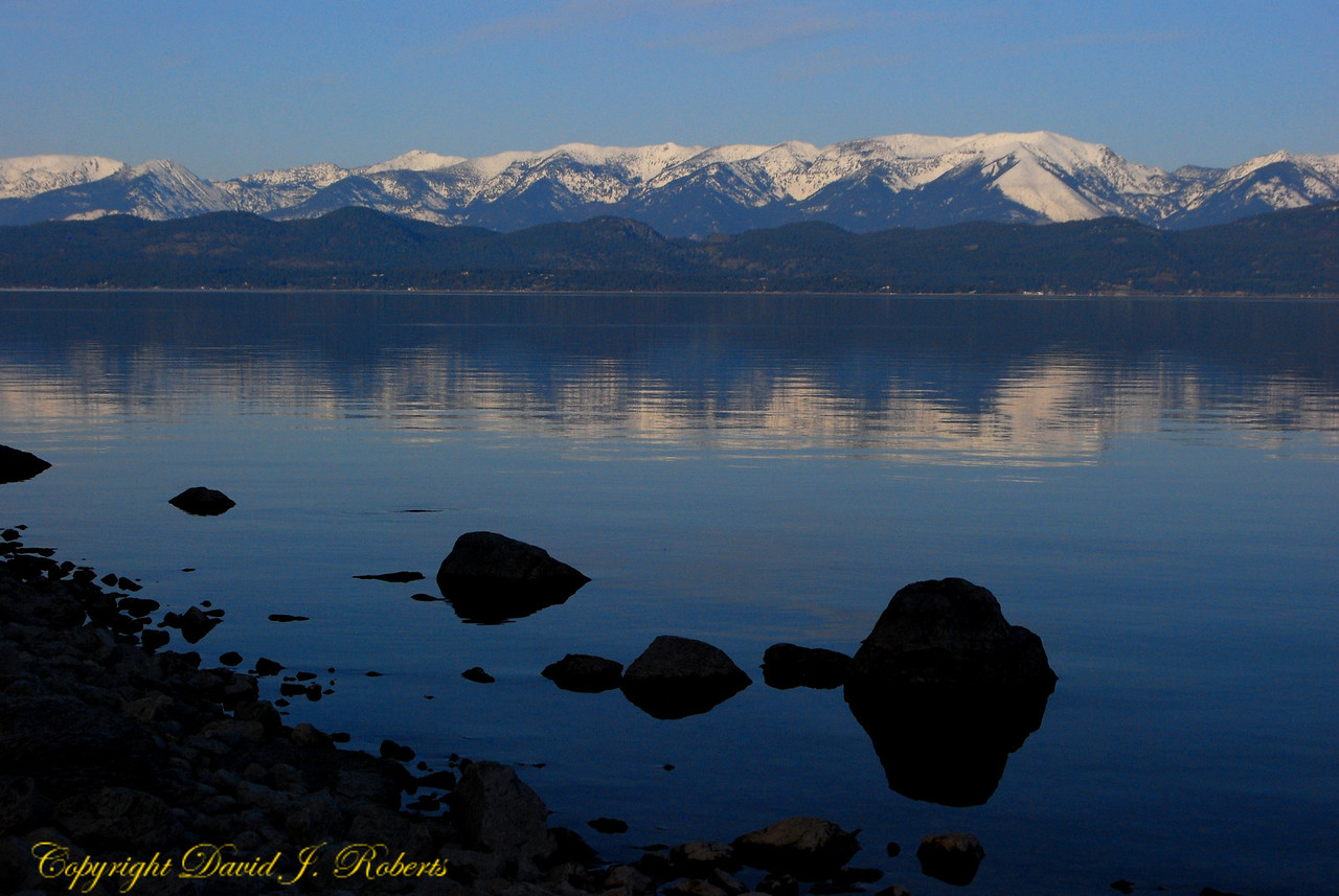 Flathead Lake and Mission Range, Montana