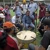 Pow-Wow drum circle