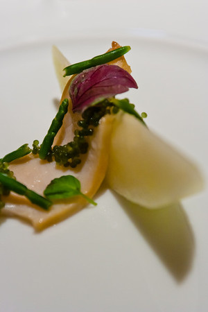 'Aged' and Pampered Abalone, Melon, and Sea Grapes<br /> <br /> Cyrus