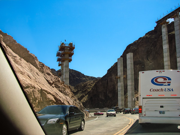 Hoover Dam Bypass under construction