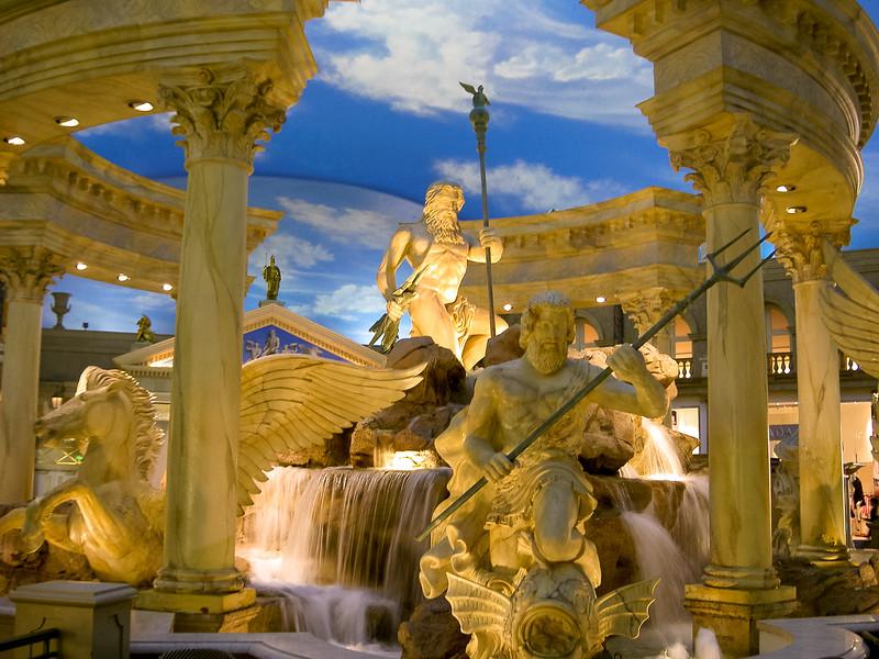 Forum Shops Neptune Fountain