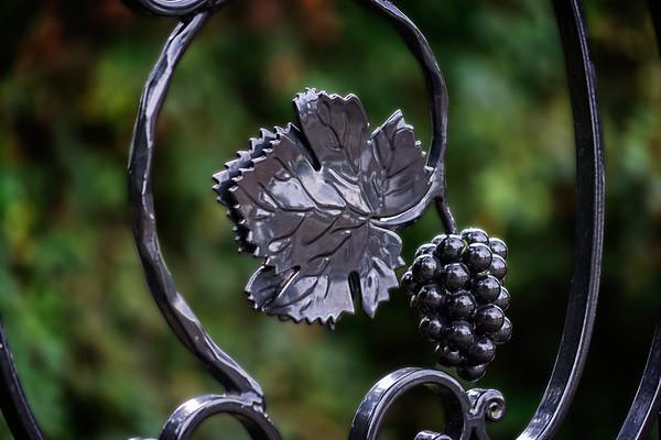 Iron Railing Grape Decor