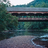 Mohican Covered Bridge, Clear Fork Branch of the Mohican River. Aug 1977