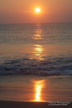 Sunrise at the Beach. Corolla, Outer Banks, North Carolina. 2012.