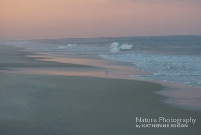 Sunset on the beach. Corolla, Outer Banks, North Carolina. 2012.