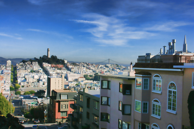 Coit tower from Lombard