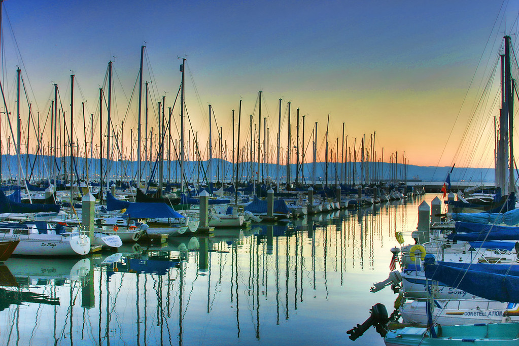 sailboats at sunrise2