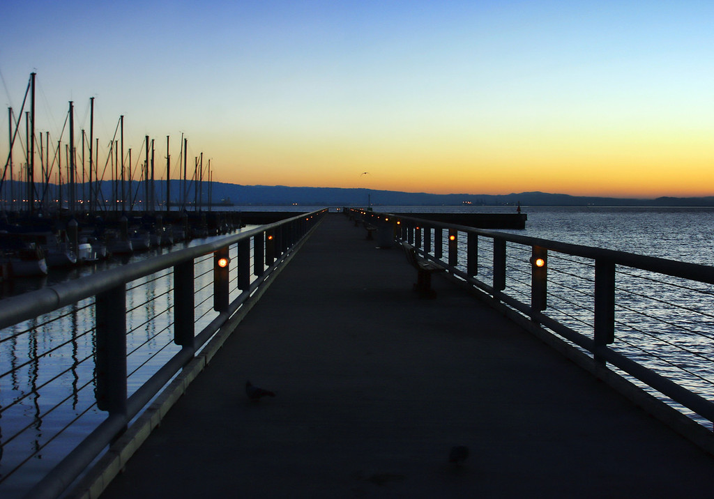 Pier and sunrise