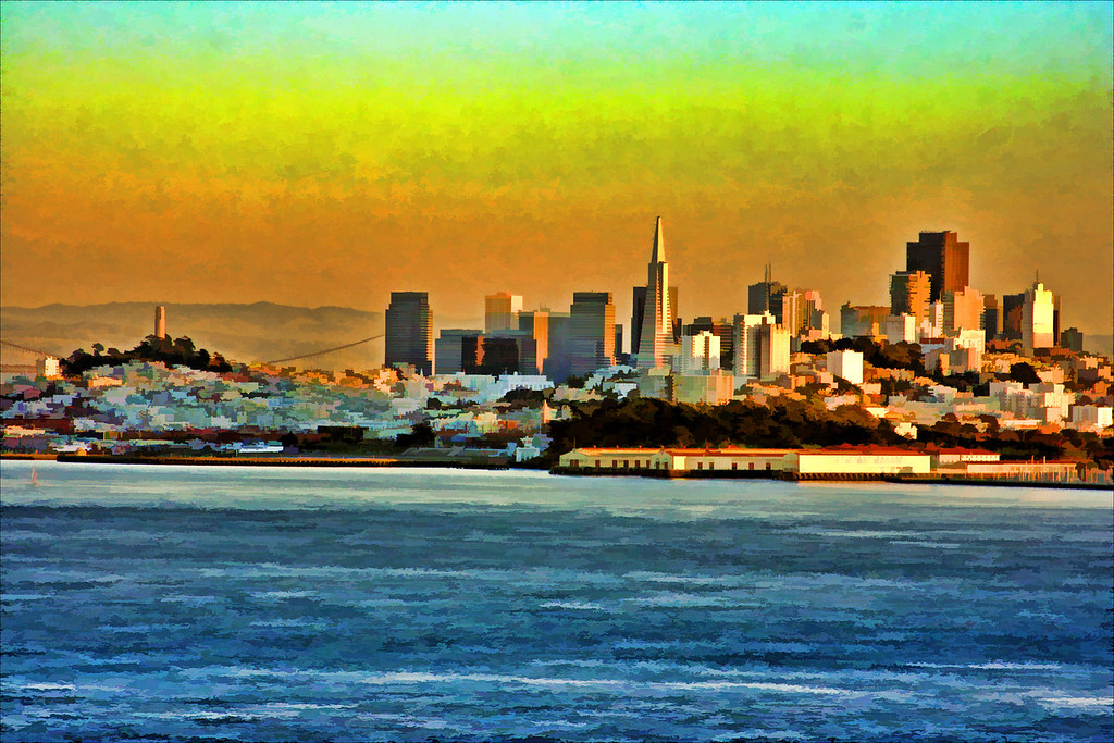 Painted SanFrancisco View