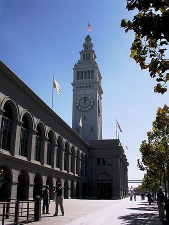 The Clock Tower at the San Francisco Ferry Terminal