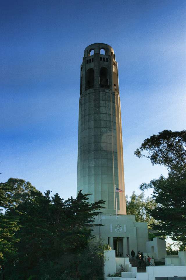 Coit tower close up