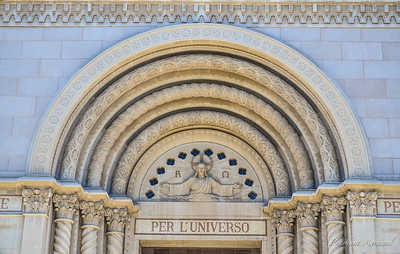 Entrance of Saints Peter and Paul Church in San Francisco
