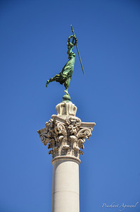 Goddess of Victory Statue atop the Dewey Monument at Union Square in San Francisco
