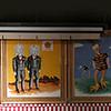 Panorama of circus art at Ringling Bro Museum