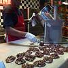 Dark chocolate pralines. River Street Sweets.