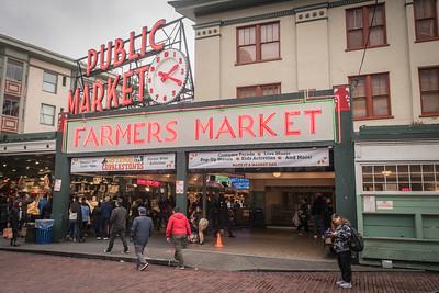 Pike Place Market entrance.