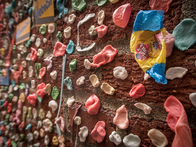 """The """"famous"""" Gum Wall."""