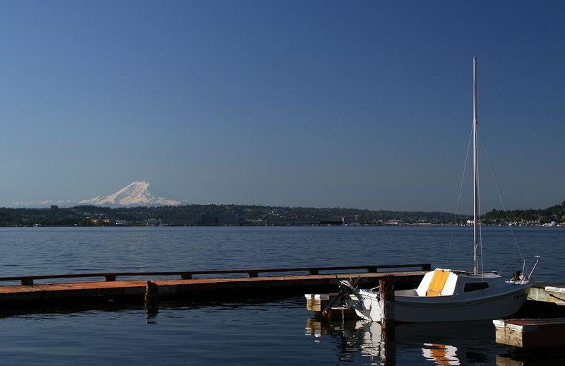 Mt. Rainier from Mercer Island.