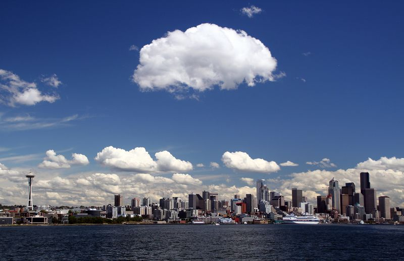 Panoramic view of downtown Seattle. What a view!