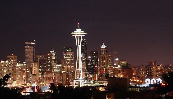 Downtown Seattle from Queen Anne.