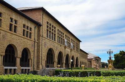 Sideview of the North Facade of the Stanford University Building