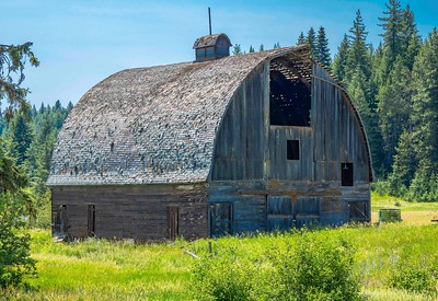 This barn is on its last legs...but still standing