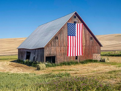 Sometimes, our Flag lives longer than the barn it calls home.