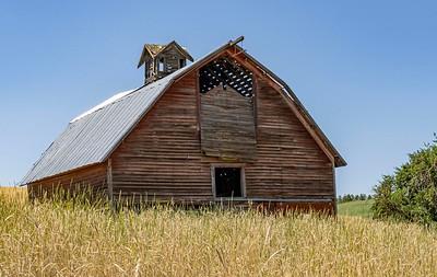 Old barns slowly fade away