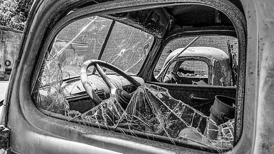 Shattered windows....shattered truck