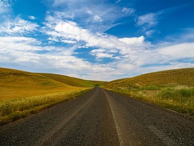 Roads seemed to wander endlessly through Palouse farmland