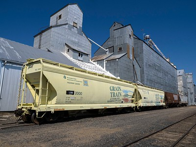 Grain Trains move crops from grainary to ?
