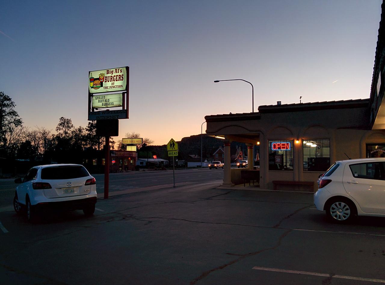 The outside of Big Al's Burgers.