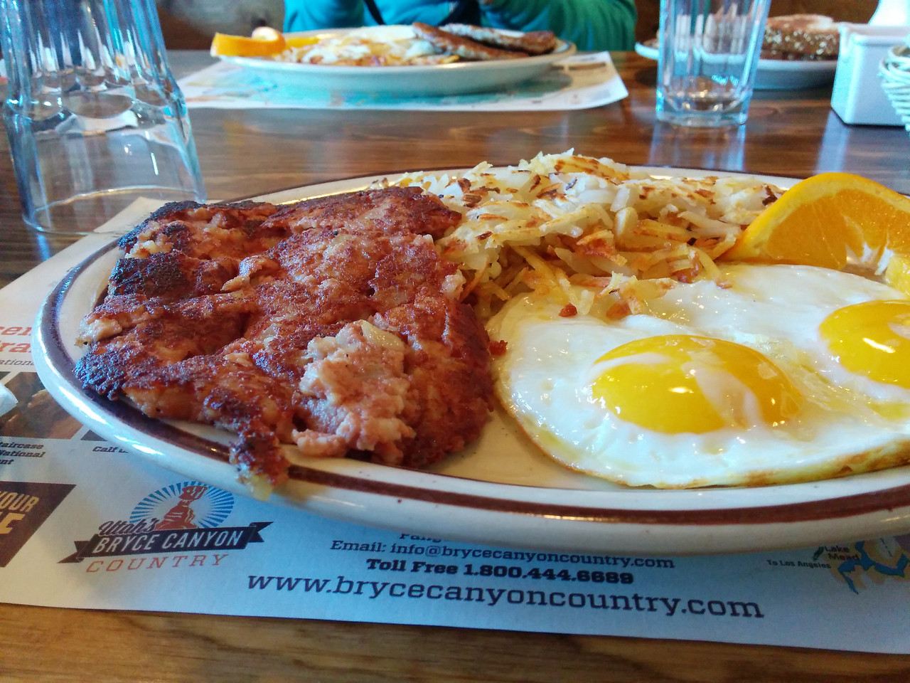 Stopping by Bryce Canyon Pines Restaurant for a solid breakfast.  Corned beef hash was amazing.