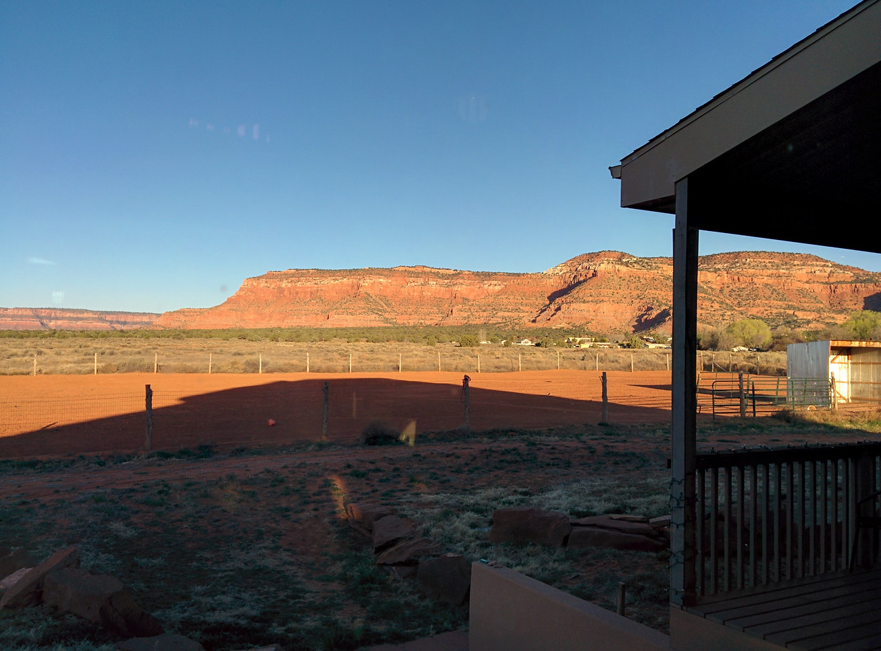 Waking up in the middle of Utah and more specifically on what could be considered a ranch is a very unique experience.  Great view regardless.