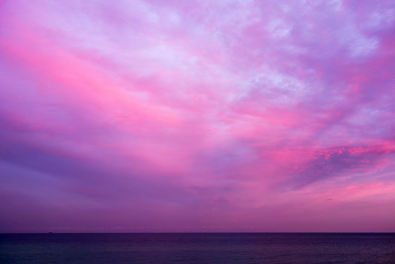 Magenta Sunset Over Atlantic