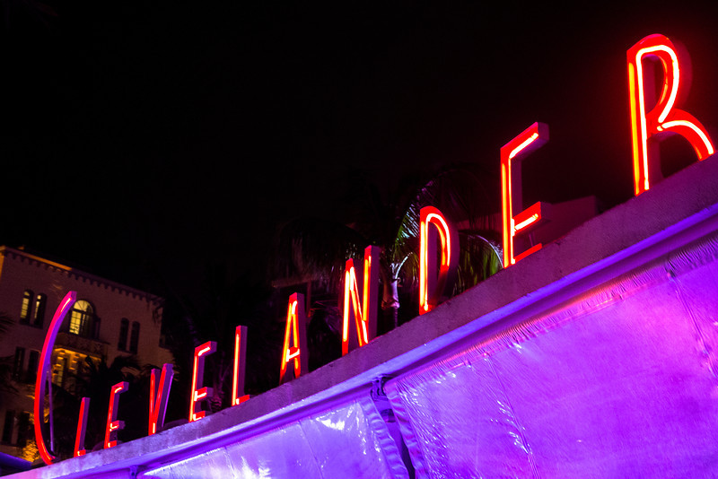 Clevelander Art Deco Neon Sign