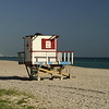 Lifeguard Tower With A Beach View