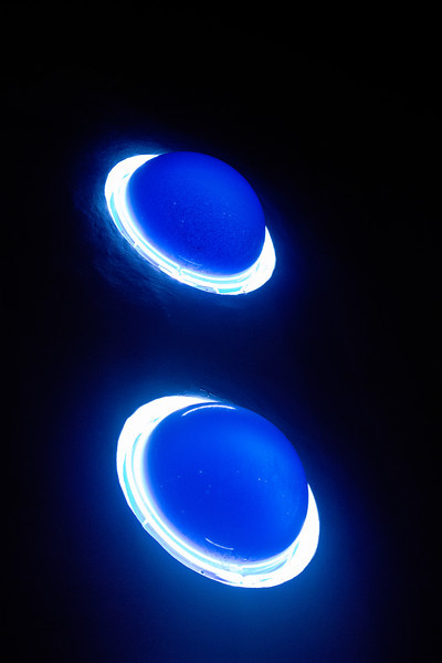 Blue Art Deco Orbs