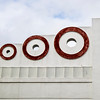 Art Deco Circles In Red