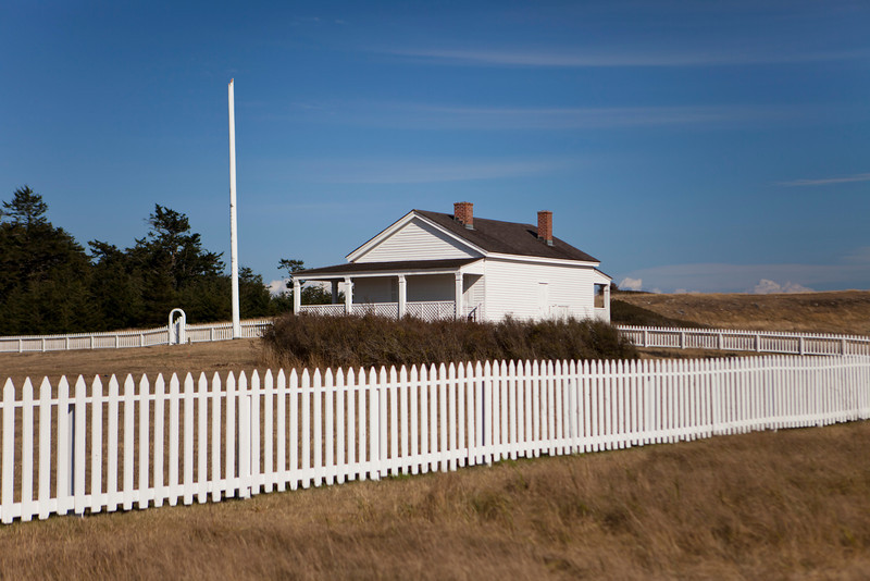 The commanders residence and command center for American Camp on San Juan Island in Washington State. This military base is one of the last structures from the Pig War in the 1800s where American and British troops had a standoff for 5-10 years.