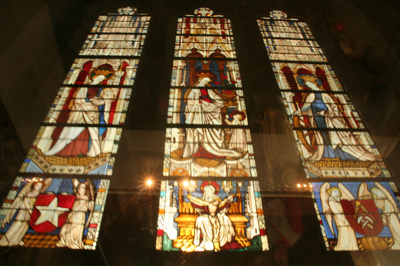 Stained glass windows-Cloisters