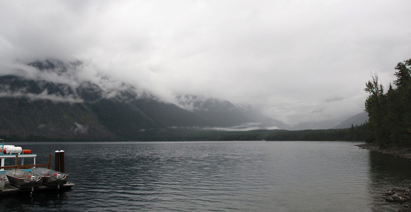 Cloudy day at Lake McDonald
